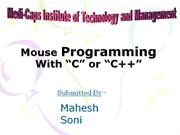 mouse programming