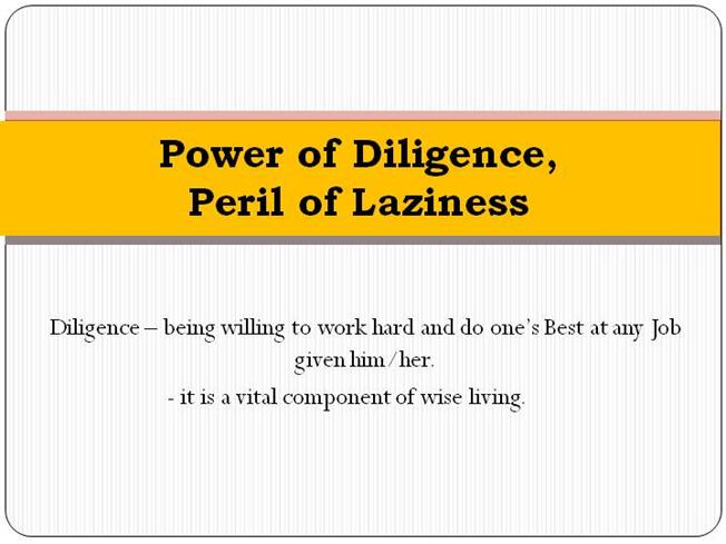 Power Of Diligence Authorstream