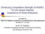 mrJPMalhotraEnhancing Competitive Strength of MSME's