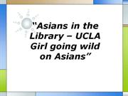 asians in the library – ucla girl going wild on asians