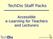 Accessible eLearning Presentation