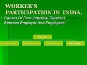 WORKER'S PARTICIPATION IN INDIA