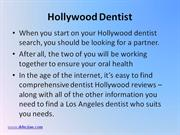 What to Expect from a Hollywood Dentist