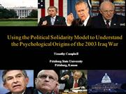 Political Solidarity Model and the Iraq War