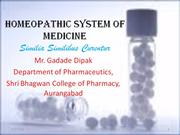 Homeopathic System of Medicine