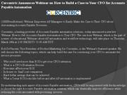 corcentric announces webinar on how to build a case to your cfo for ac
