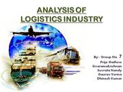 analysis of logistics industry