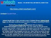 unitech south park % { 9560177334, 9811884722 } % south park gurgaon