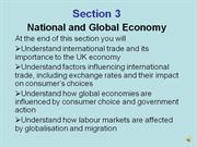 yr10 economics part 1 of chapter 3 national & global economy