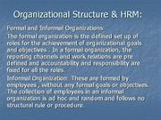 organisation structure and hrm