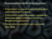 Basics of Presentation