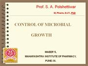 sterilisation and  Disinfection By Prof. Satish Polshettiwar, MIP Pune