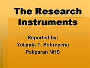 The Research Instruments
