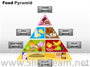 Specific Food Pyramid With 3 Stages
