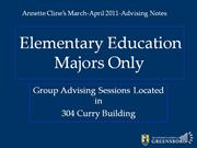 Elem Ed Majors March-April 2011