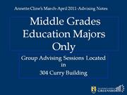 Middle Grades Majors-March-April 2011rev2