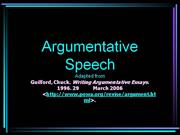 argumentative speech