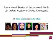 Instructional Design & Instructional Tools:An Online & Hybrid Course