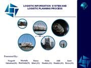 LOGISTIC INFORMATION  SYSTEM AND LOGISTIC PLANNING PROCESS