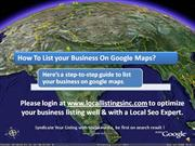 How To Be Listed On Google Maps?
