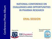 R K College of Pharmacy, Conference photoes - Oral session