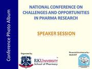 R K College of Pharmacy, Conference Photoes - Speaker session