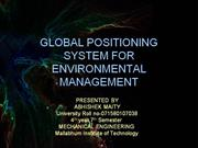 GPS for Environmental Management