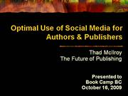 optimal use of social media for authors & publishers