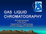 GLC-GAS LIQUID CHROMATOGRAPHY