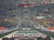 Over Canberra and other Aircraft