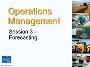 Operation Management  - Chapter 3