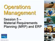 Operation Management  - Chapter 5