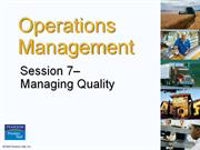 Operation Management - Chapter 7