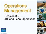 Operation Management  -Chapter 8