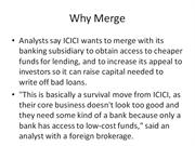 icici  merger with icici bank