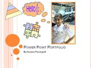 Power Point Portfolio[2] Ary P.