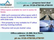 office space available for rent in sector 62 noida