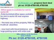 with in both side open road office space for lease in noida sector 65