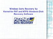 Windows Data Recovery by  Kernel for FAT and NTFS