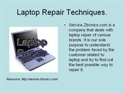 Laptop repair slide