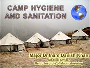 CAMP HYGIENE AND SANITATION-Maj Dr ID Khan