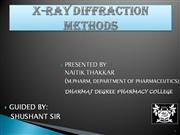 X ray intoduction by Naitik Thakkar