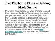 Free Playhouse Plans � Building Made Simple