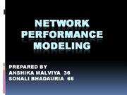Network Performance Modelling