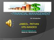 Financial Management-by Jameel Pathan - IIPS Nanded
