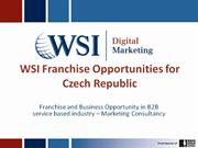 wsi franchise opportunities  in czech republic and slovakia
