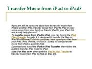 transfer songs from an ipad to another ipad
