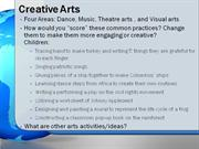 Literacy, Social Studies, and Creative Arts