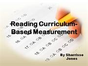 reading curriculum based measurement