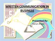 WRITTEN COMMUNICATION IN BUSINESS